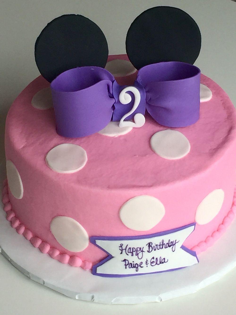 Brilliant Minnie Mouse Birthday Cake Cincinnati Ohio Cakes By Kate Personalised Birthday Cards Veneteletsinfo