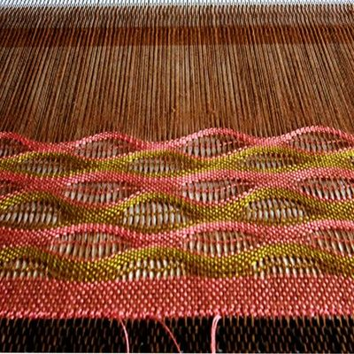 Pattern Weaving With Pick Up Stick Rigid Heddle Loom
