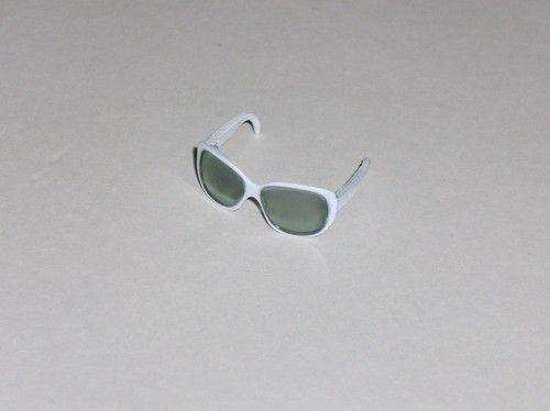 Barbie Doll Sunglasses White Rim Eye Glasses | eBay