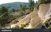 natural scenery of white rocks of French Colorado outdoor park with beautiful r  Creative Business Flyer Postcards