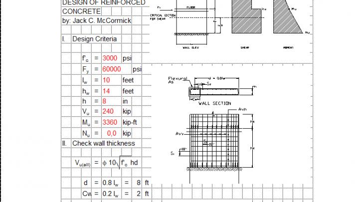 Shear Wall Design Spreadsheet Wall Design Design Spreadsheet