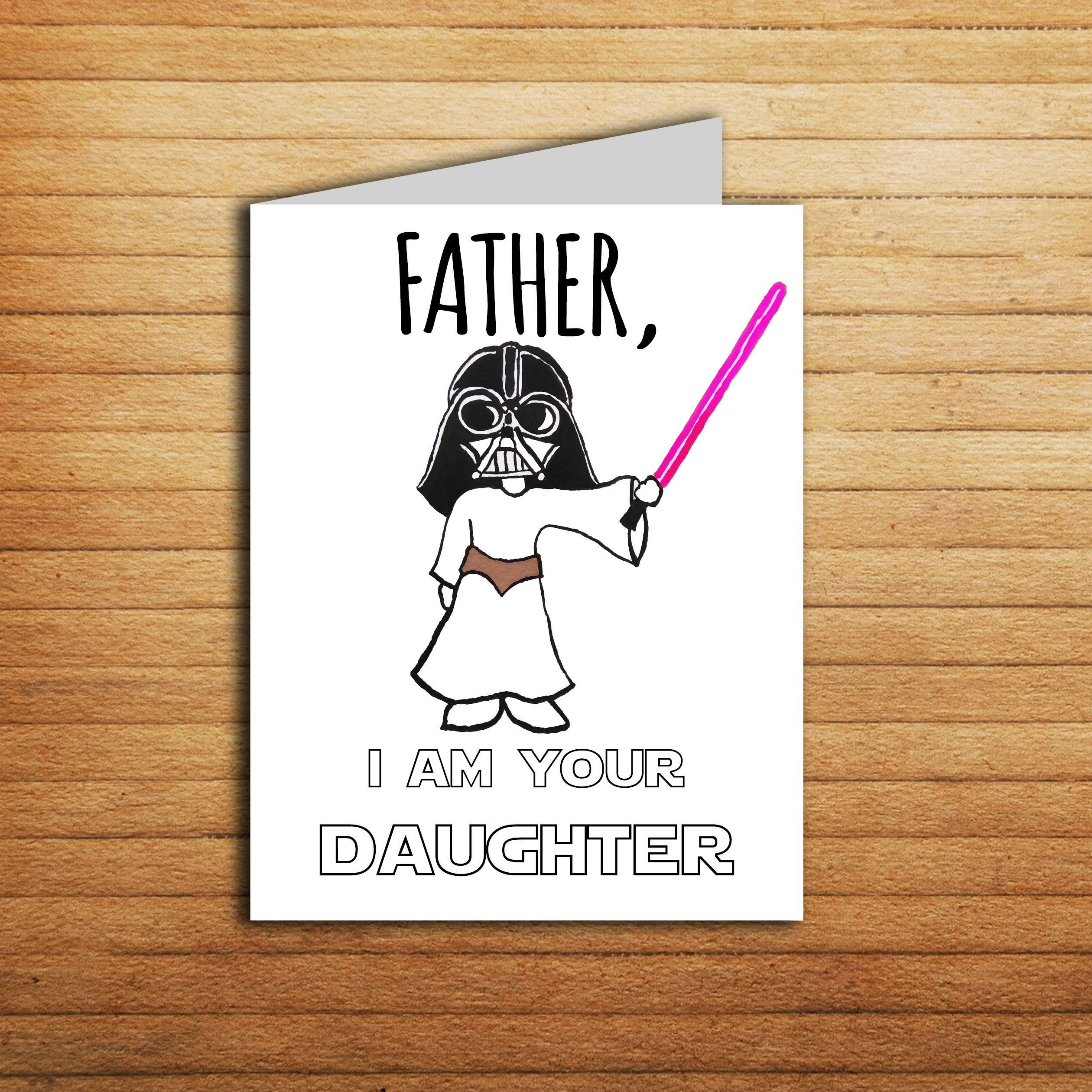 Star Wars Card Christmas For Dad Gift From Daughter
