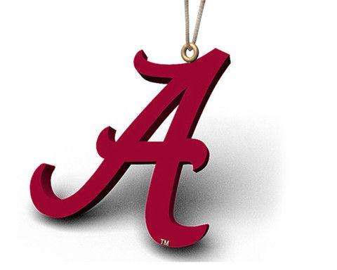 Alabama A Logo Ornament Alabama Crimson Tide Alabama Wreaths