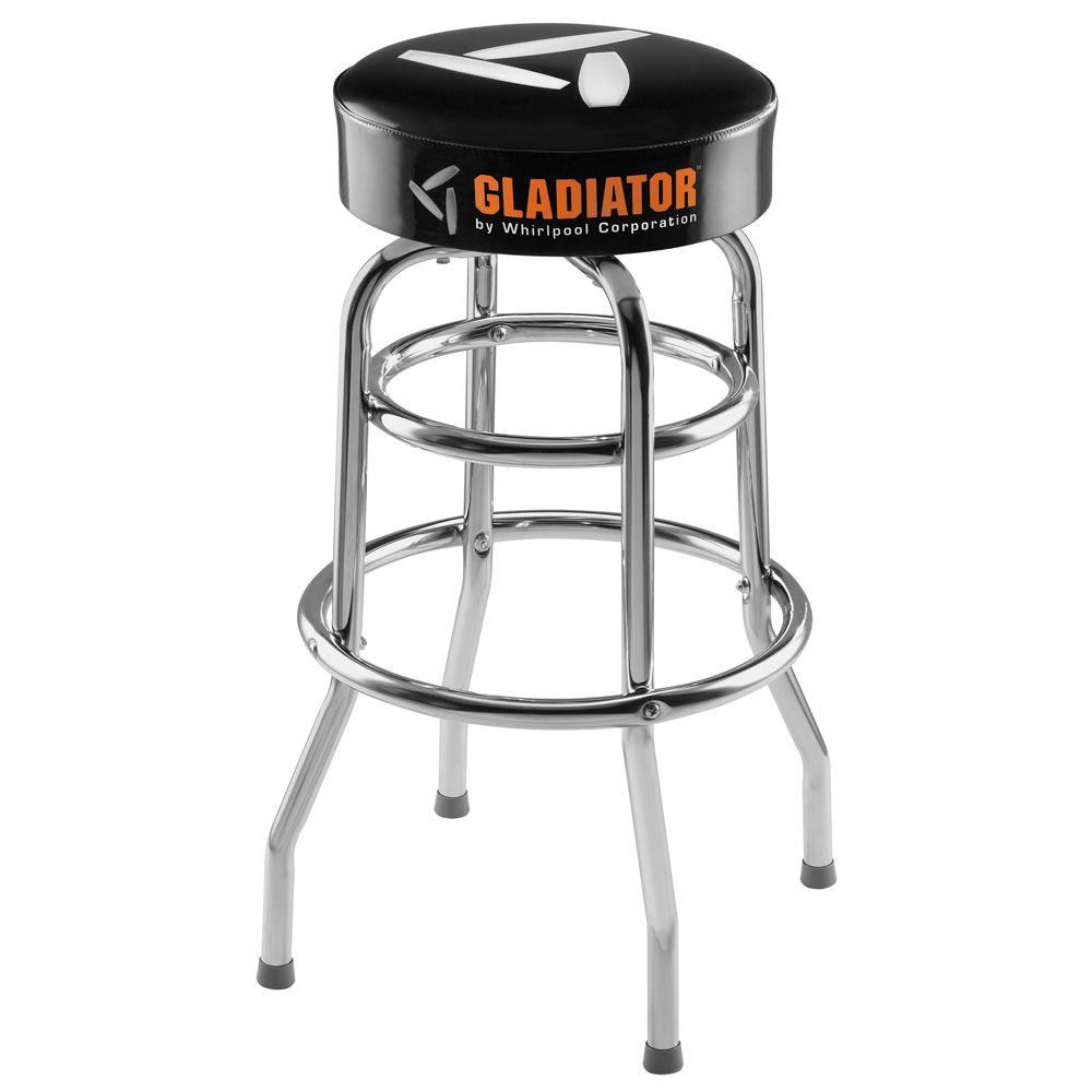 Gladiator Ready To Assemble 30 In H X 15 In W Padded Swivel