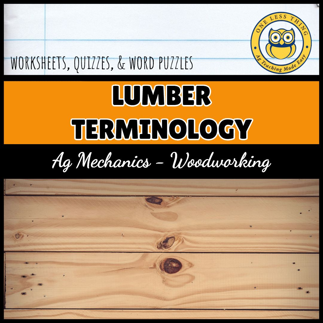 Lumber Terminology Worksheets Agtivities With Images