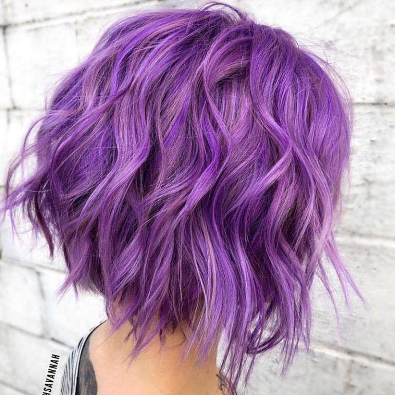45 Beautiful Short Hairstyles Shared On Instagram January 2019 Hair Styles Short Purple Hair Hair Colour Design