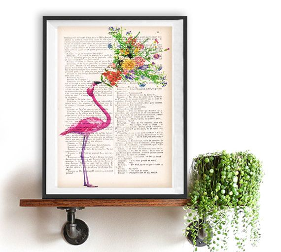 Merci French Word Print Typography Art Poster Home Decor Positive  Inspirational Vintage Book Page Thank You Friendship Christmas Gift