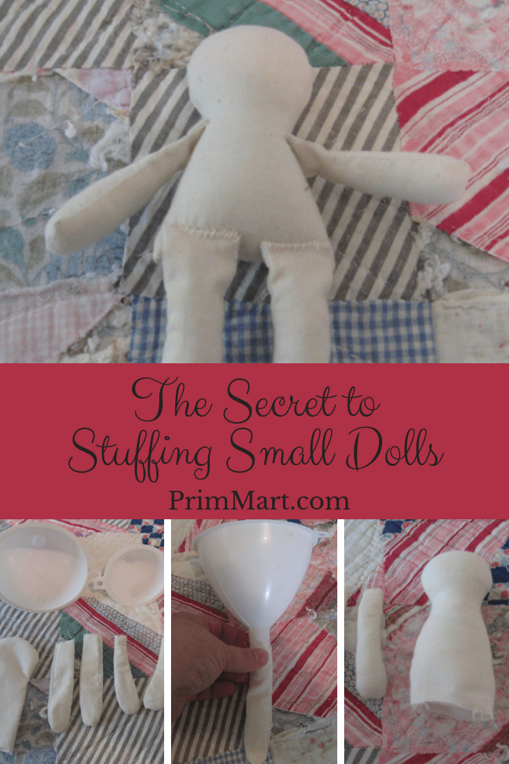 The Secret to Stuffing Small Dolls #dollmaking