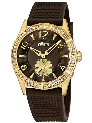 20e636bde7e5 Lotus 15762 3 - Reloj analógico de cuarzo para mujer con correa de plastico  color marron