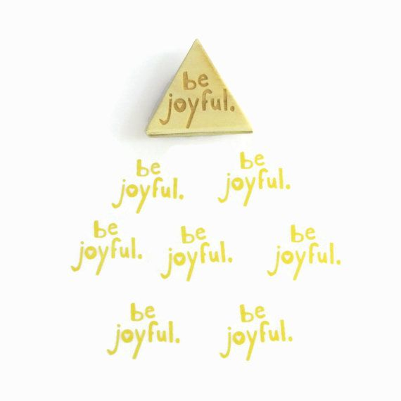 NEW Be Joyful Stamp Triangle Wood Mounted Rubber by creatiate, $10.00