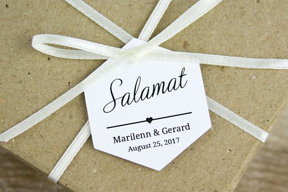 Salamat Tags Thank You Tags Filipino Wedding Wedding Favors
