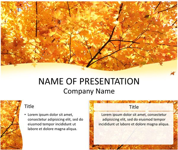 Fall powerpoint template design pinterest template fall powerpoint template toneelgroepblik Choice Image