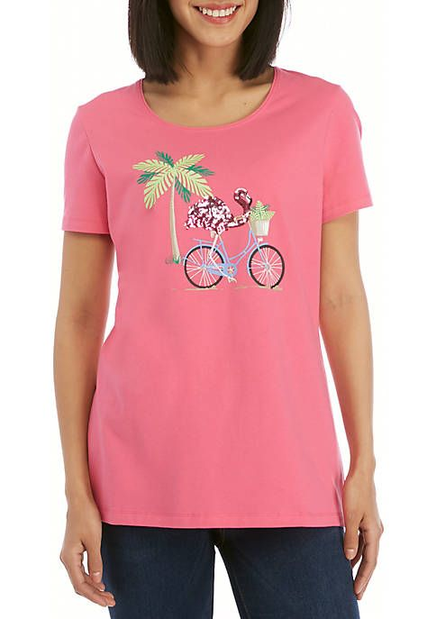 884a320b709 Kim Rogers® Short Sleeve Flamingo T Shirt in 2019