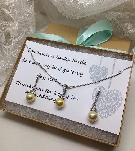Bridesmaid jewelry set Bridesmaid gift bridesmaid by GlamDuchess