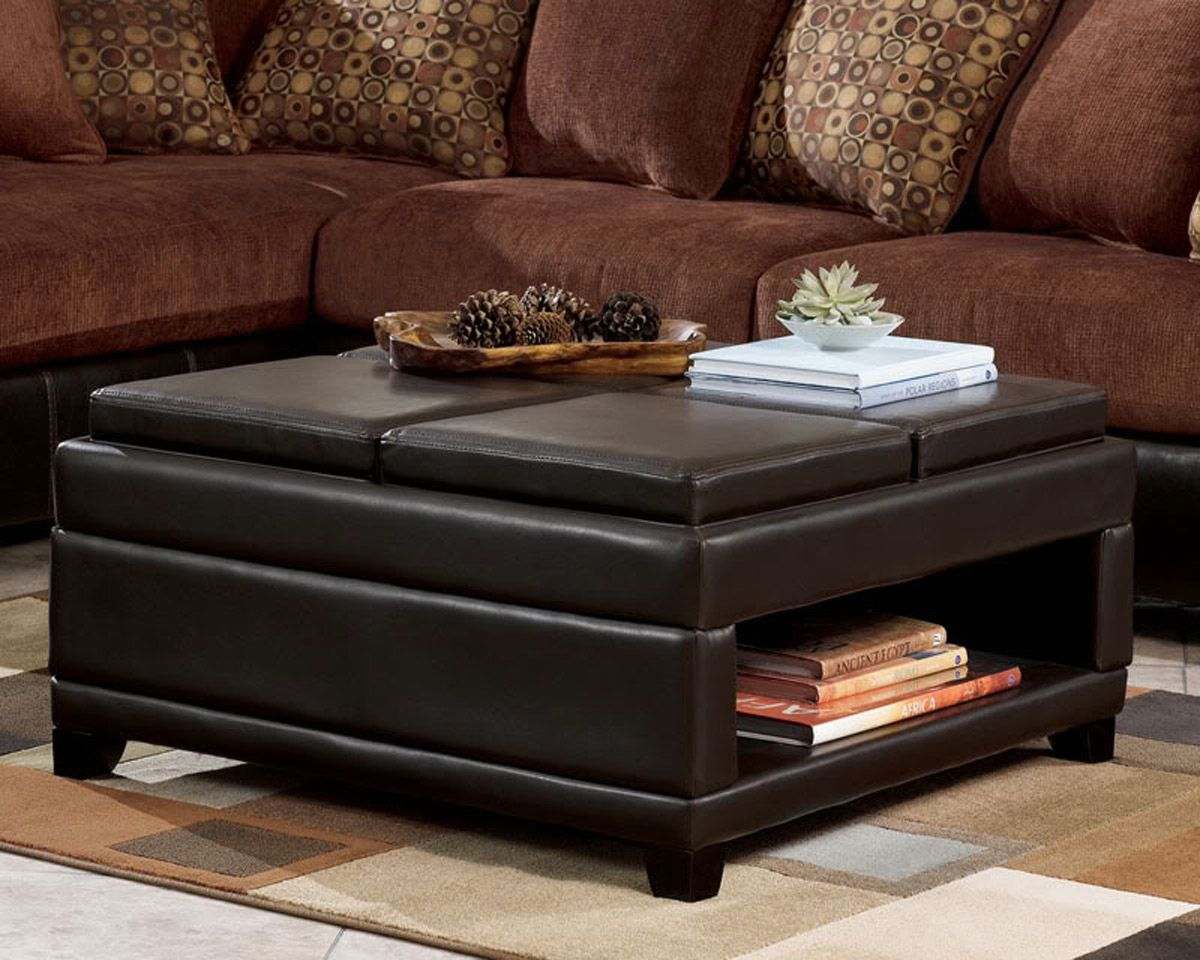 Coffee Table Square With Storage Ottoman Exciting