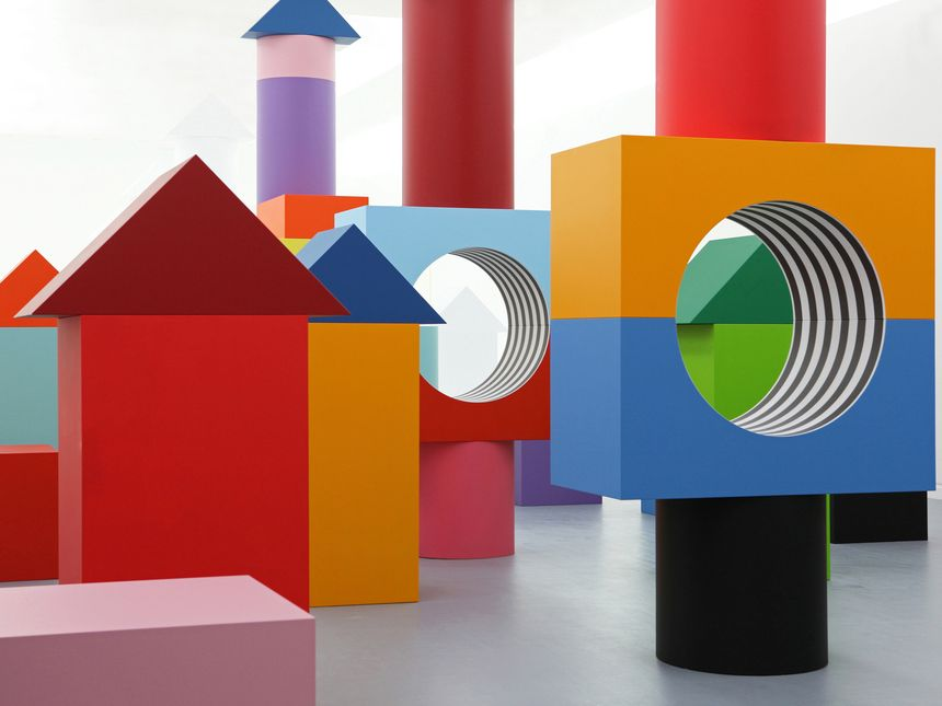 Child's Play: Daniel Buren's Blocky Art Installation Debuts at MADRE Museum — KNSTRCT #artinstallation