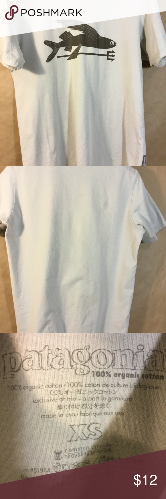 964af8a9 Women's Patagonia Short Sleeve Tee Shirt Gray With Women's Patagonia Short  Sleeve Tee Shirt Gray With Fish Graphic Preowned Size XS Preowned in pretty  good ...