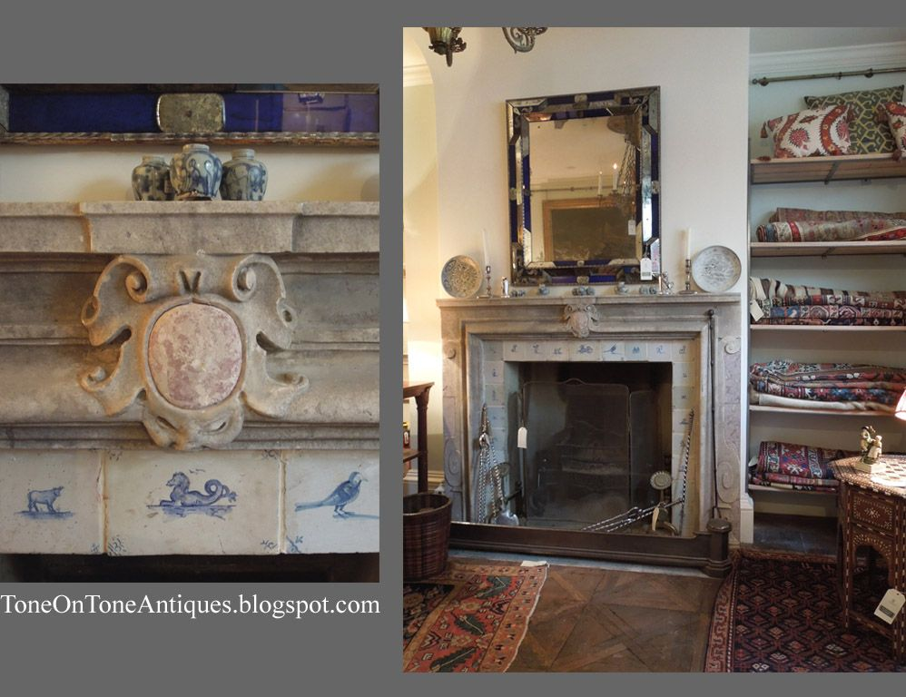 Antique Blue And White Delft Tiles Surround Many Of The Fireplaces