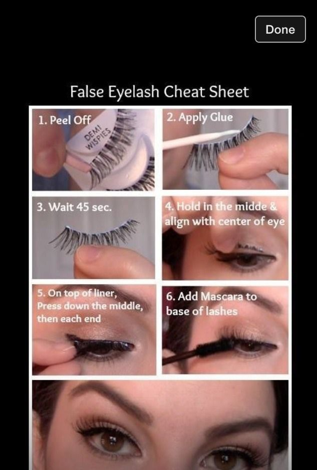 How To Put On Fake Lashes Make Up Pinterest Makeup Hair