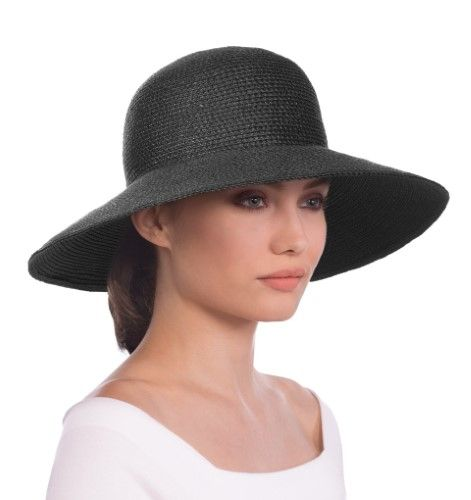 92841e48315 Women s Eric Javits  Hampton  Straw Sun Hat - Black