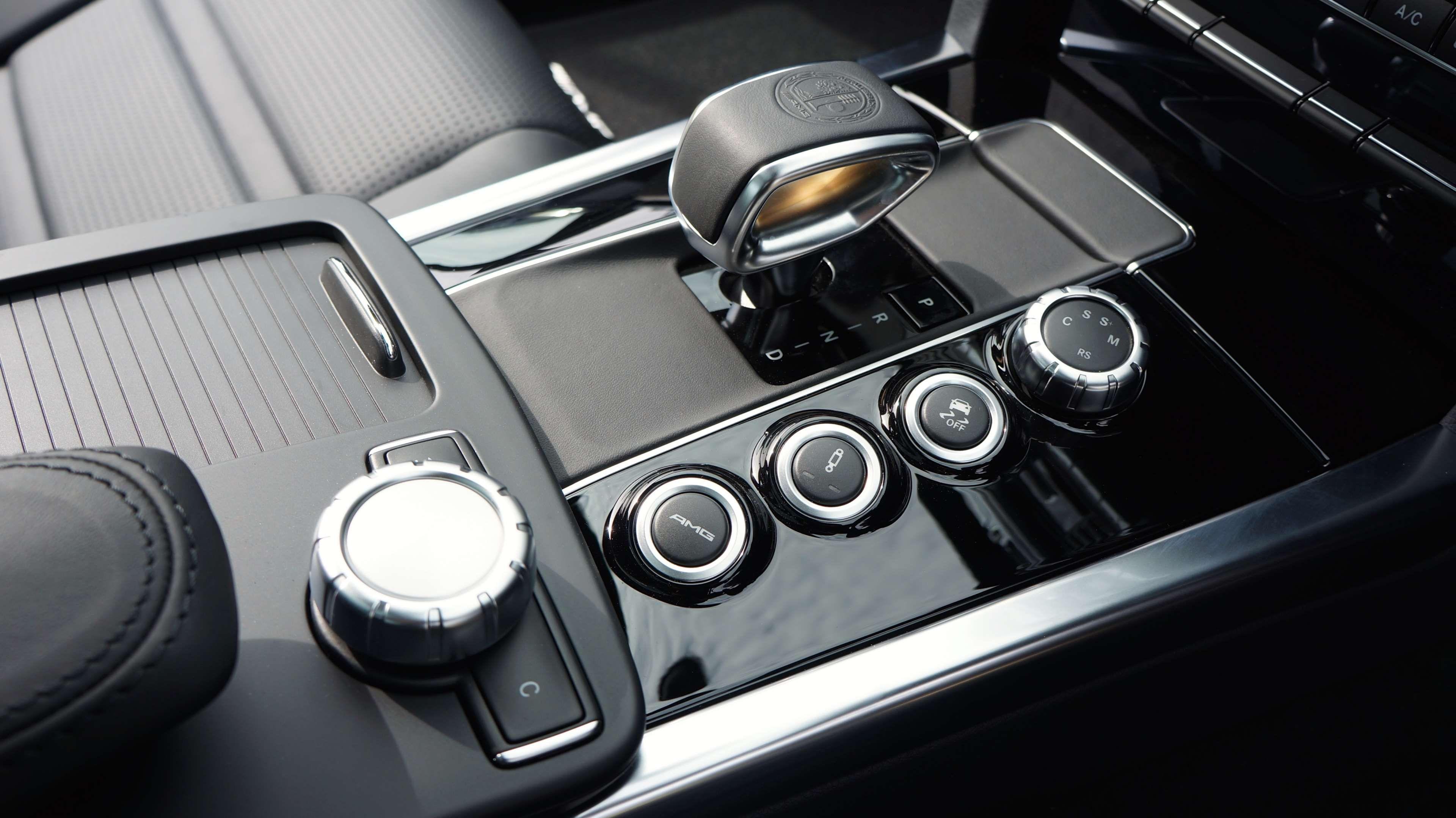Button Car Gear Shift Interior Mercedes Benz Seats