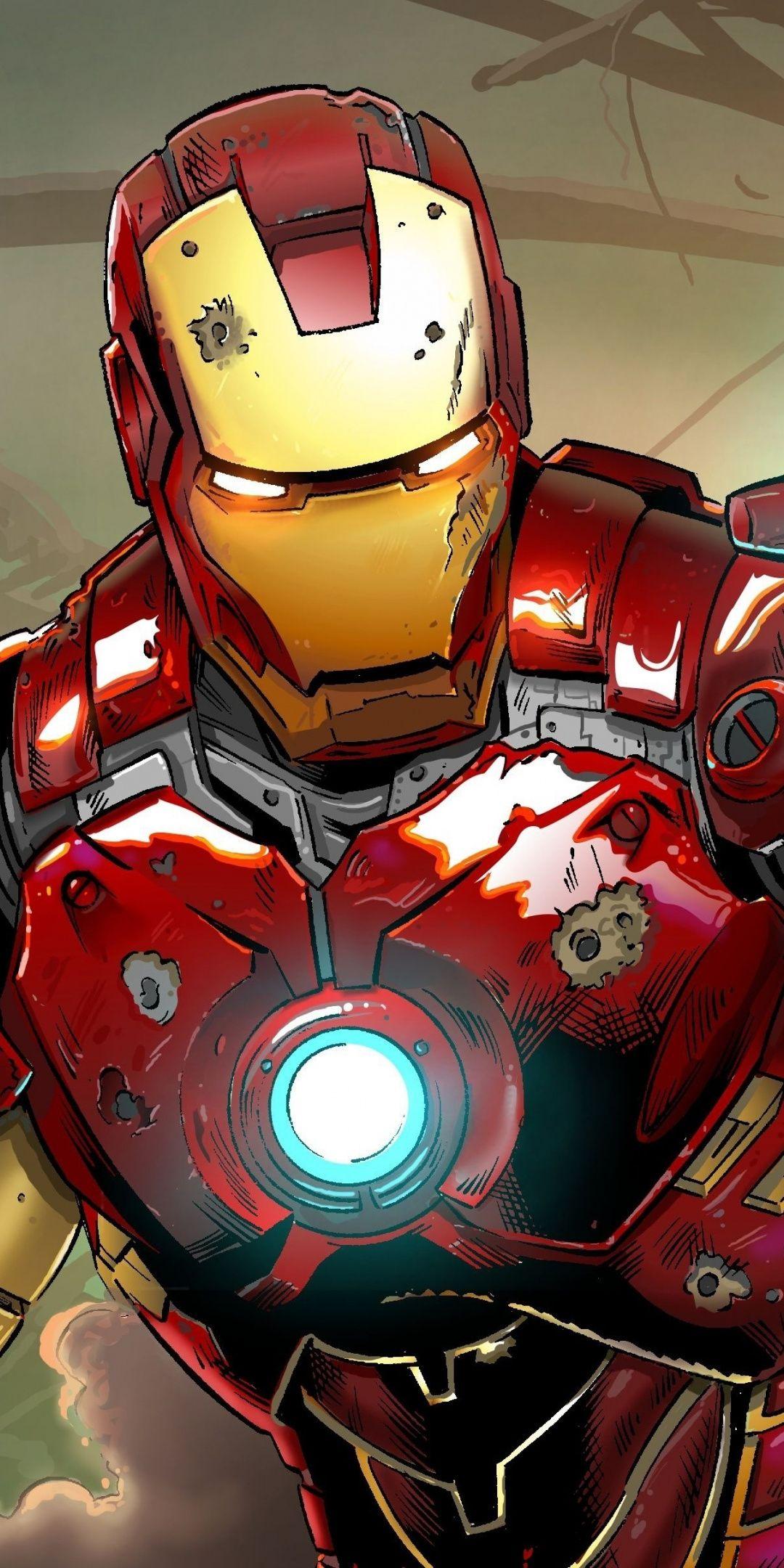 Iron Man Comicart 2019 1080x2160 Wallpaper Iron Man Art Iron