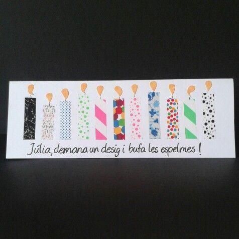 Marzo está llenos de cumples, ¡me encanta! #sweetnblue #cumpleaños #felizcumpleaños #tarjetapersonalizada #handmade #hechoamano #scrapbooking #fiesta #soplalasvelas #pideundeseo