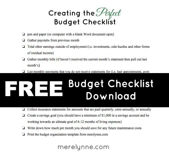 Creating The Perfect Budget Checklist  Budgeting Blogging And Create
