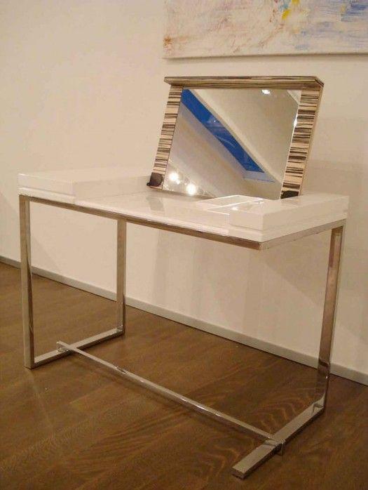 Desk Makeup Table Combo | Desks Design, Modern White Dressing Table U2013  Melina By Sabinoaprile