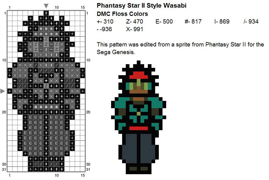 Wasabi - Big Hero 6 Sprite pattern by Dork Stitch