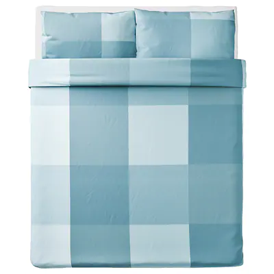 Brunkrissla Duvet Cover And Pillowcase S Light Blue Full Queen Double Queen Ikea In 2021 Duvet Covers Duvet Queen Duvet Covers