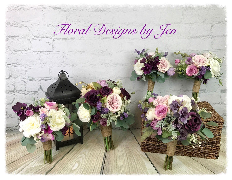 Wedding Bouquet Package, Silk Bouquet, Flower Bouquet, Bridal ...