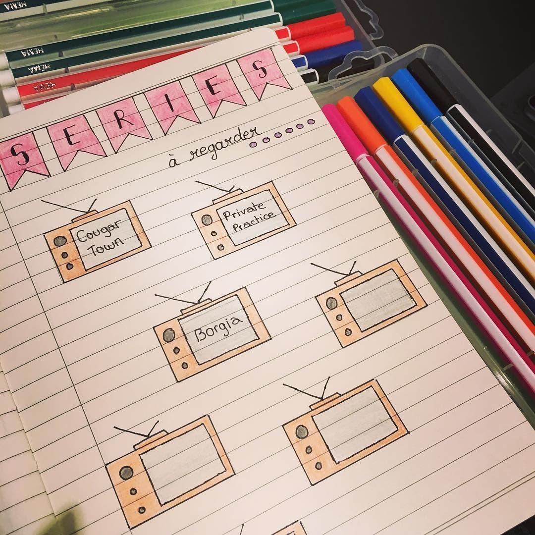 Les séries à regarder #bulletjournal #bulletjournaling #journal #journaling #carnet #planner #plannercommunity #filofax #filofaxaddict #carnet #notebook by planneuse_