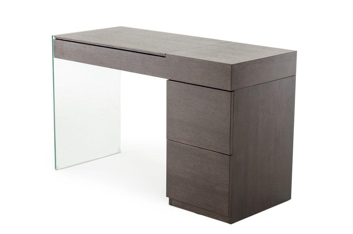Modern dressing table mirrors vig modern brown oak floating glass vanity with mirror modrest
