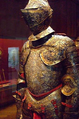 Armor of Henry II of France Steel embossed blued silvered and gilt French possibly Paris about 1555 (1) by mharrsch, via Flickr