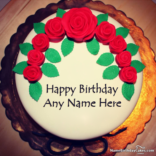 Images Of Birthday Cake With Name Simran : Latest Birthday Cake For Husband With Photo And Name ...