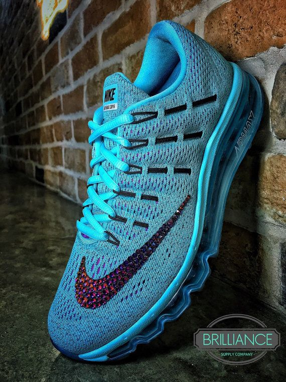 NIKE AIR MAX 2016 ENCRUSTED WITH VIBRANT SWAROVSKI® XIRIUS-ROSE CRYSTALS IN  VOLCANO! Nike Style   806772-400 Color  Copa   Black   Blue 016e4548f