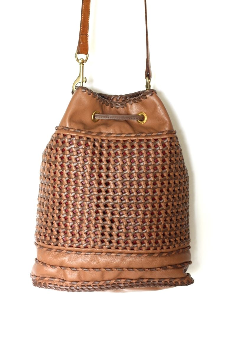 45d35190f Knots Mochila / Woven Leather Crossbody Handbag In A Traditional Colombian  Style
