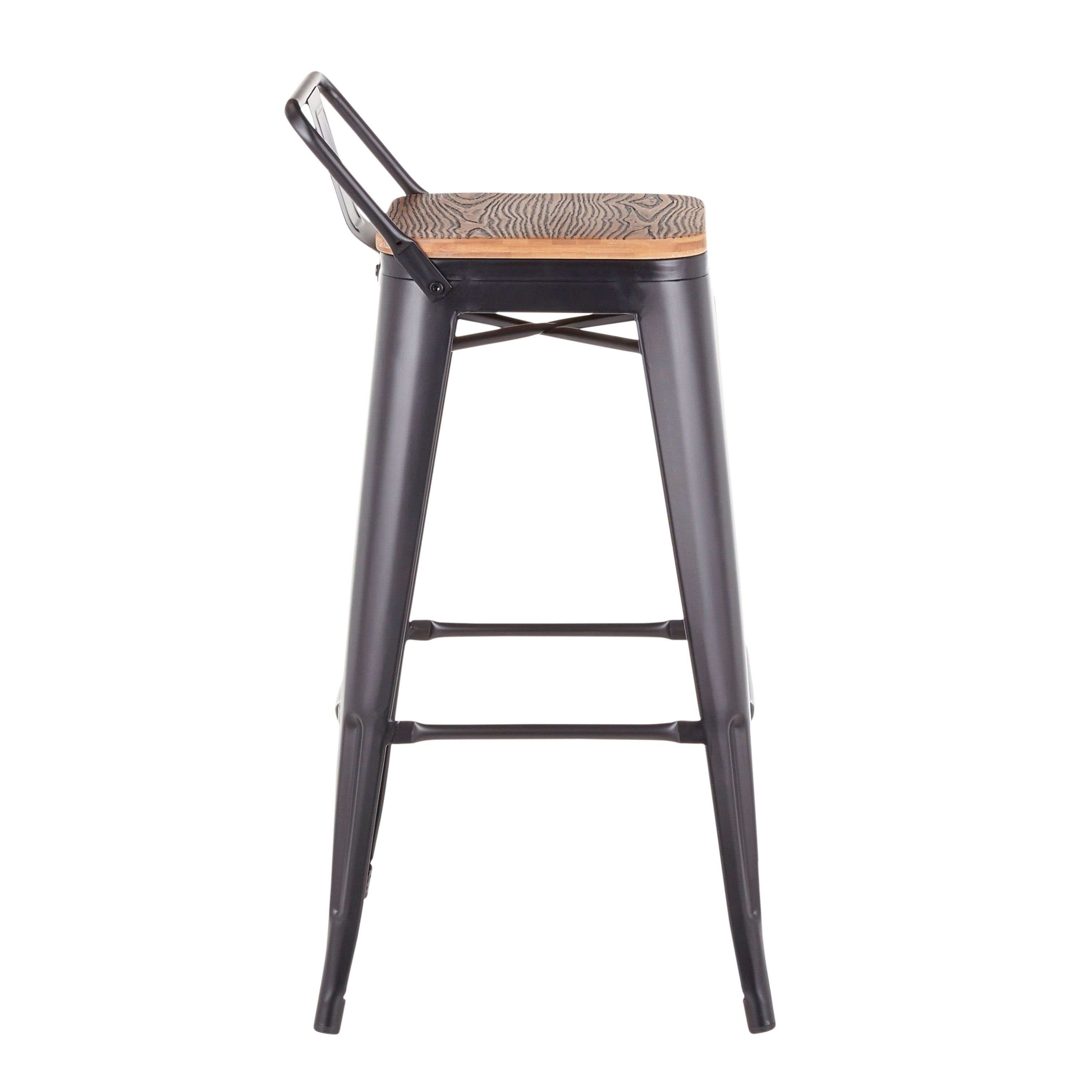 Pleasing Industrial Black Metal 30 Inch Bar Stool Set Of 2 Oregon Pabps2019 Chair Design Images Pabps2019Com