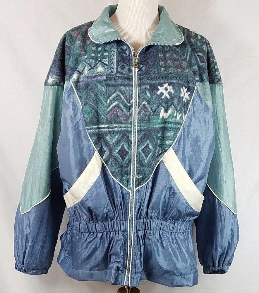 Womenus vintage us windbreaker jacket athletic works size large