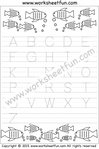 Letter Tracing Worksheet – Capital Letters – Fish Theme Used for my ...