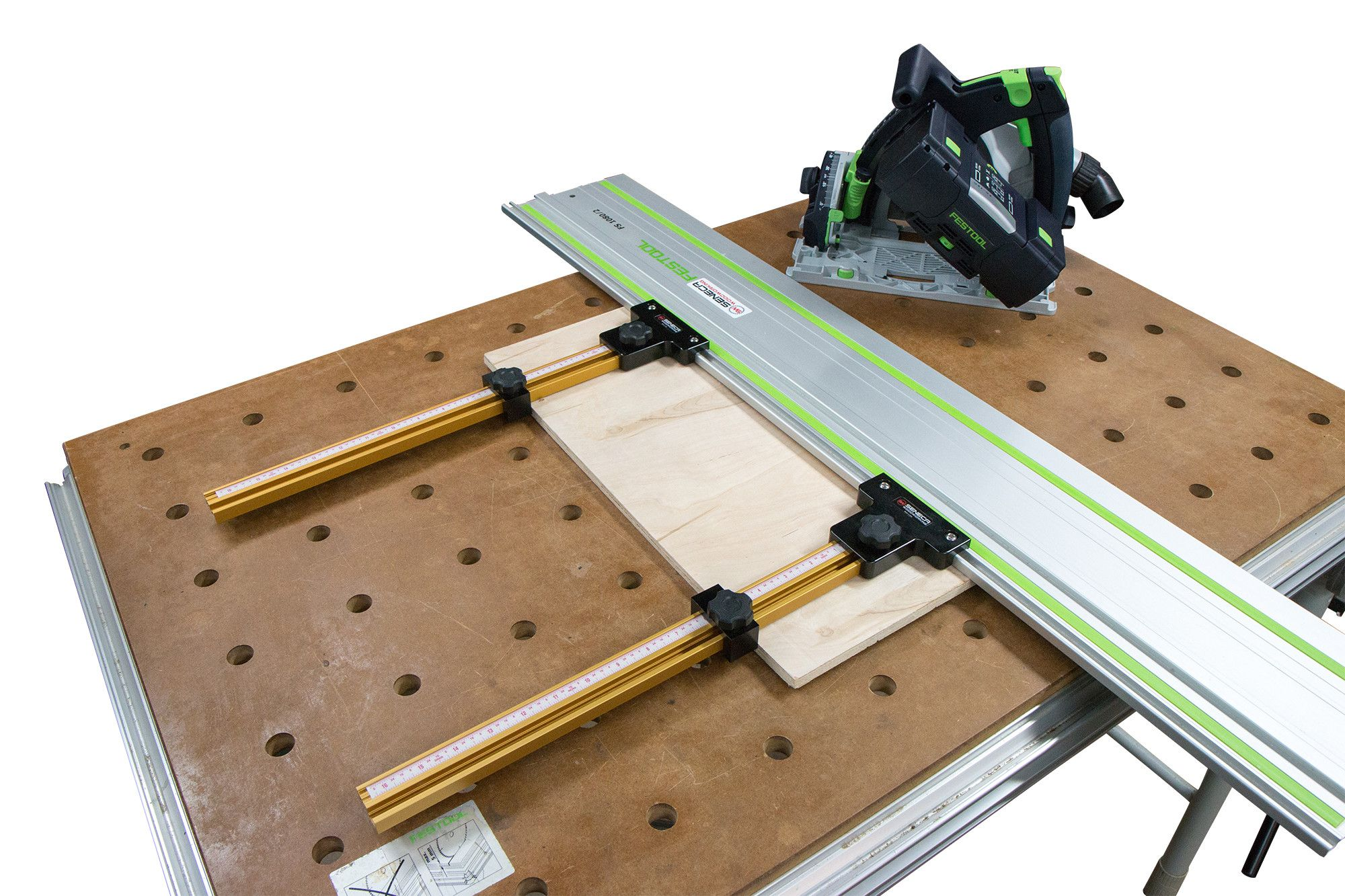 Parallel Guide System For Festool And Makita Track Saw Guide Rail With Incra T Track Guide System Festool Woodworking