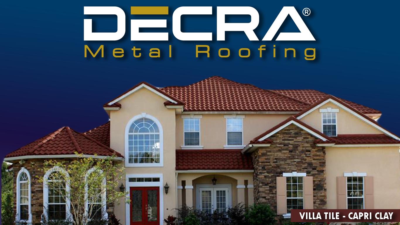 Decra Villa Tile Capri Clay Steel Metal Roofing Metal Roof Steel Roofing