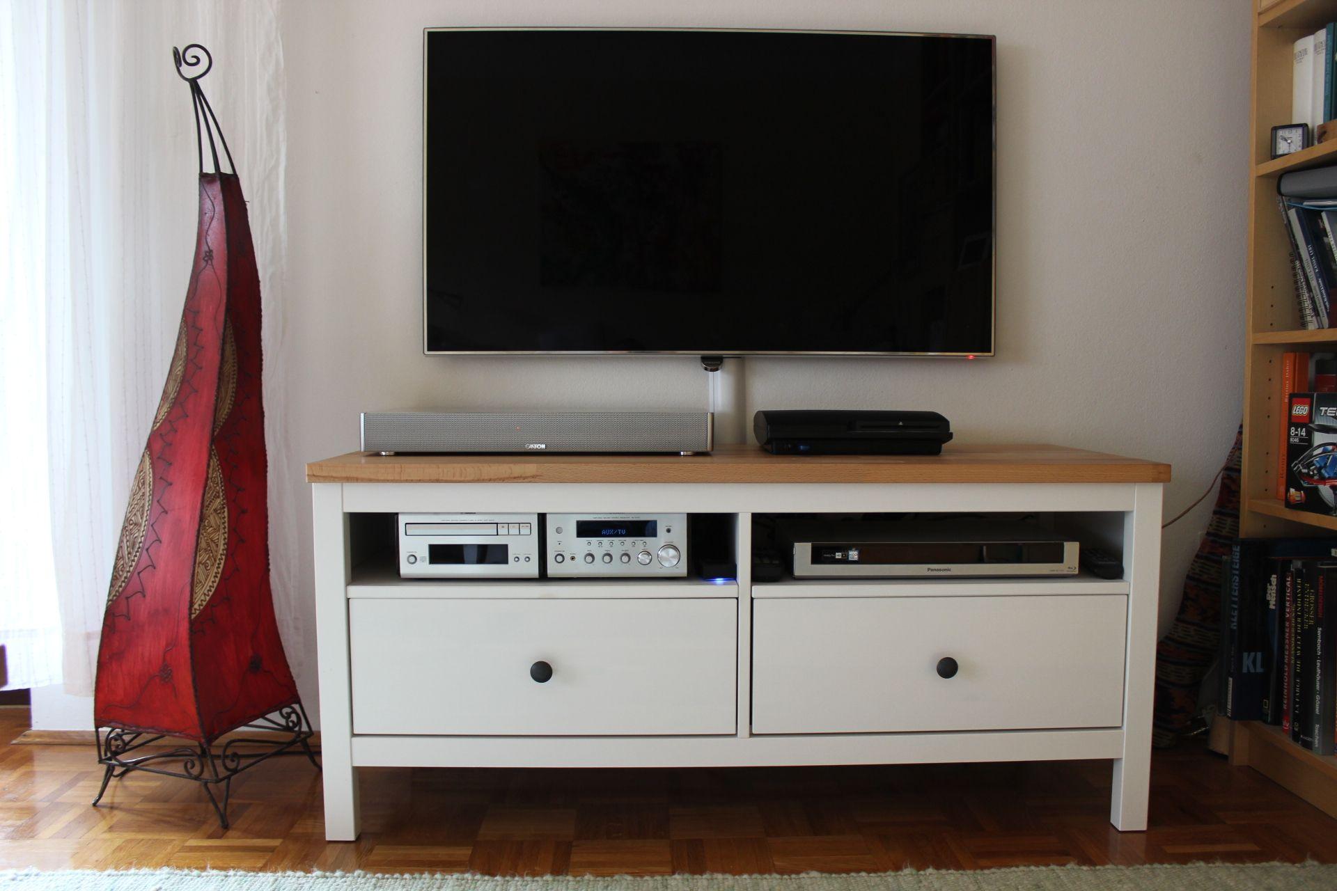 ikea hacking - hemnes tv-bank mit massiver buchenplatte. | ikea
