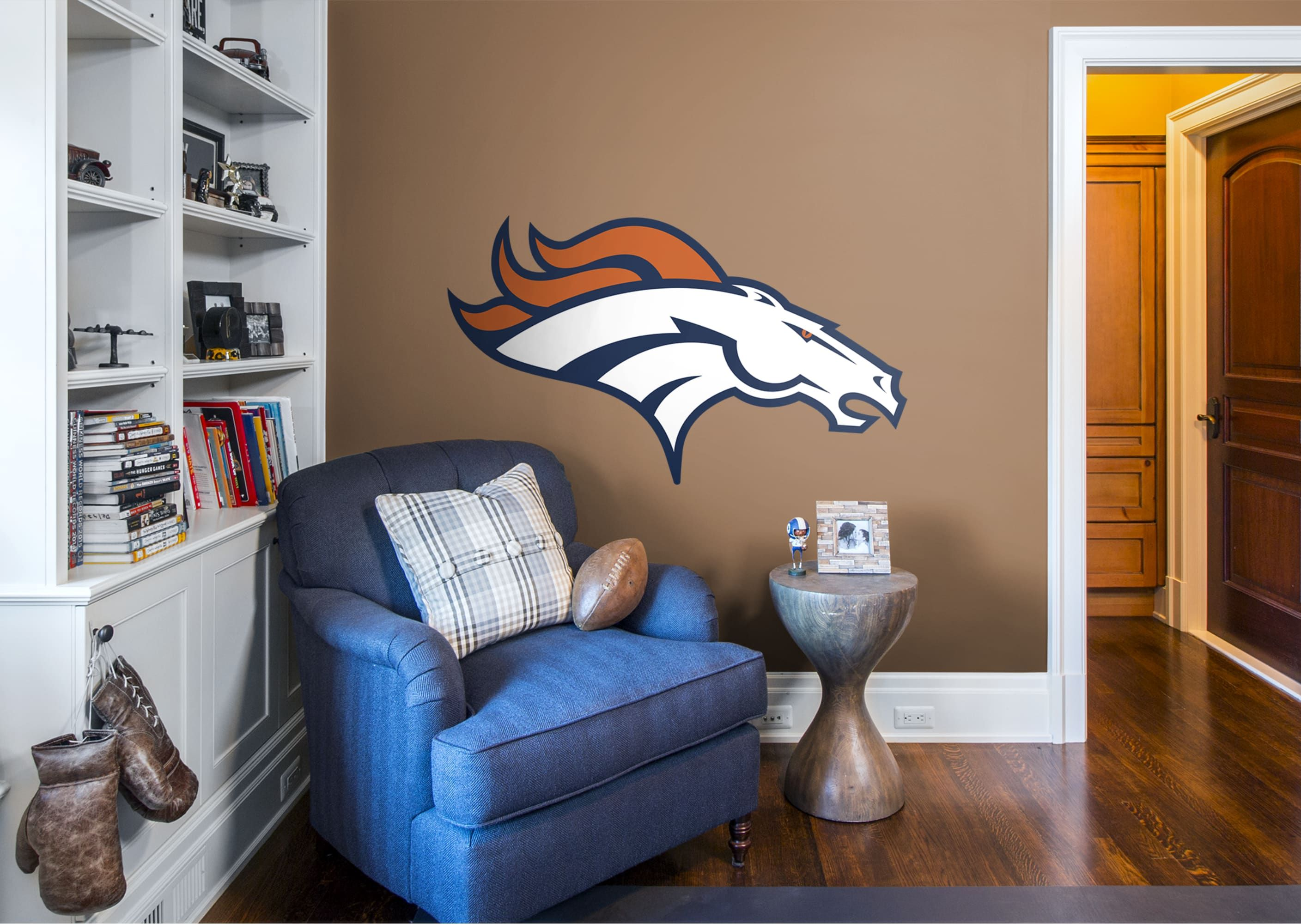 fb5da0fb Put your passion on display with a giant Denver Broncos: Logo - Giant  Officially Licensed NFL Removable Wall Decal Fathead wall decal!