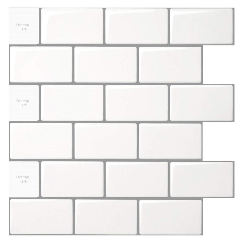10 Sheet Peel And Stick Tile For Kitchen Backsplash 12x12 Inches In 2020 Stick On Tiles Peel Stick Backsplash Stick Tile Backsplash