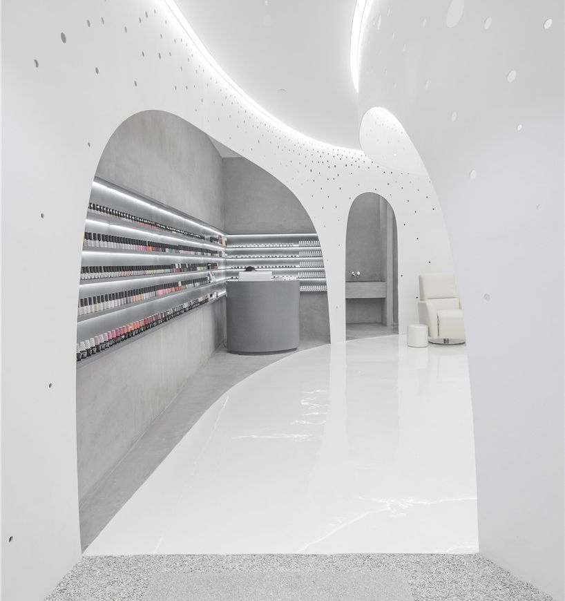 Archstudio Lily Nails Beijing Location Nail Salon Interior Salon Interior Design Nail Salon