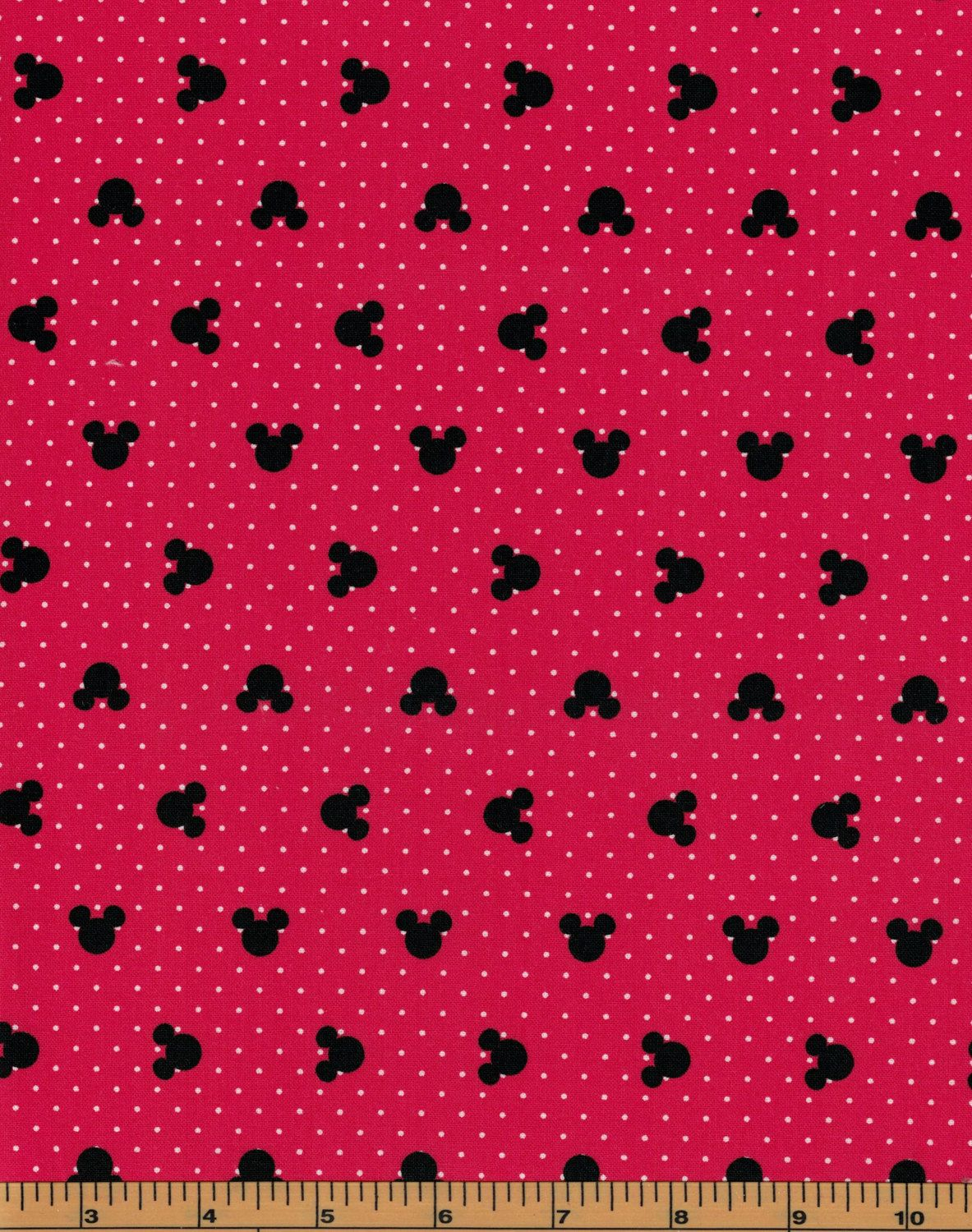 8a8bc89b9b0 Mickey Mouse Heads on a Red Background- Camelot Fabrics- 100% Cotton Fabric  by QuiltsOnTheFly on Etsy