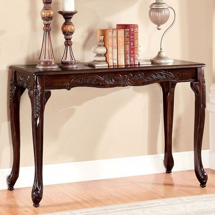 Affordable Online Furniture: CM4914CH-S Cheshire Dark Cherry Finish Wood Sofa Console