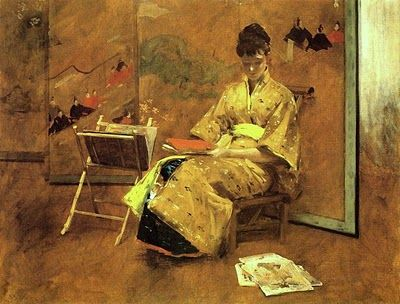.William Merritt Chase (1849 - 1916) The Kimono 1895